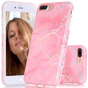 Accessories - iPhone 7 Plus Holo Chrome Marble Case Laser Pink